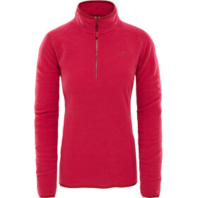 The North Face 100 Glacier 1/4 Zip Women Rumba Red/Cerise Pink Stripe
